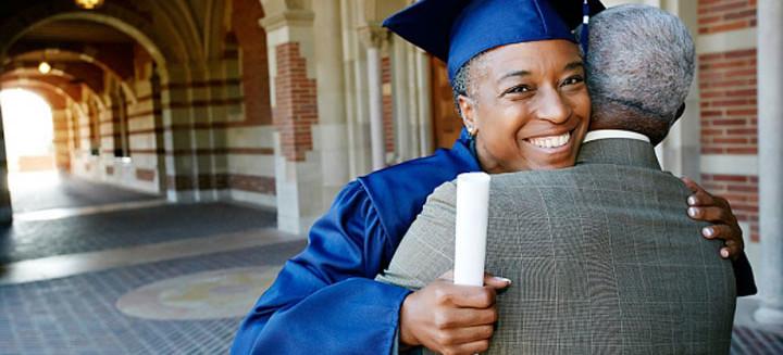 woman graduated